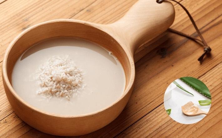 Nha đam và nước gạo vo