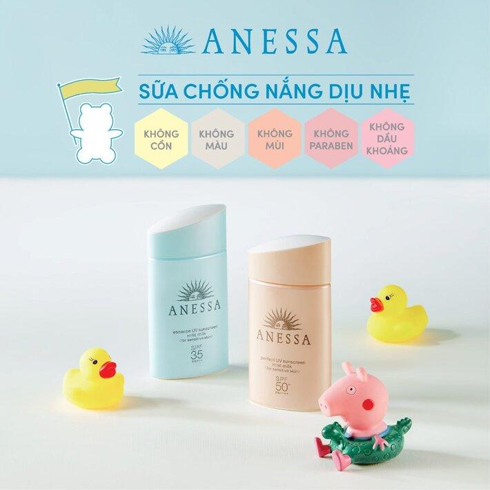 kem chống nắng Anessa Mild Milk cho da em bé và da nhạy cảm