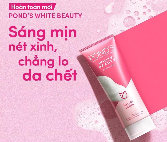 Sữa rửa mặt Pond's Spotless Rosy White Daily Facial Foam